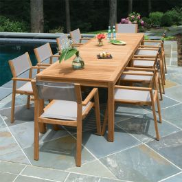 Teak Dining Set Summit 10ft Infinity Dining Table Shown With