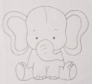 Pin De Floor En Peluches Con Imagenes Dibujo Elefante Infantil