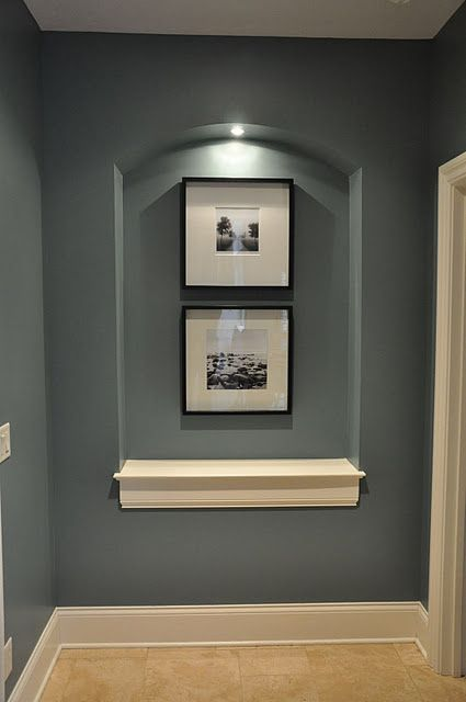 Interesting Basement Paint Color For An Accent Wall Or Down The Stairs  Makin My Home Pretty Pinterest Basement Paint Colors Basements And Walls  With ...
