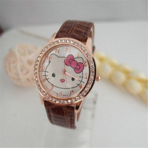 5a9226c2a Hot Sales Gogoey Brand cute hello kitty watch cartoon watch children girls  women crystal dress quartz wristwatch kt020