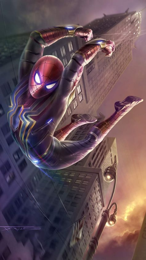 Spider Man Stark Tower - IPhone Wallpapers
