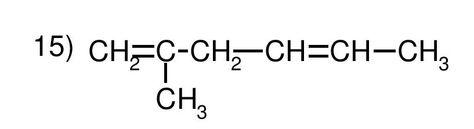 Ejercicio 15, nombra. Química, formulación orgánica, alquenos.