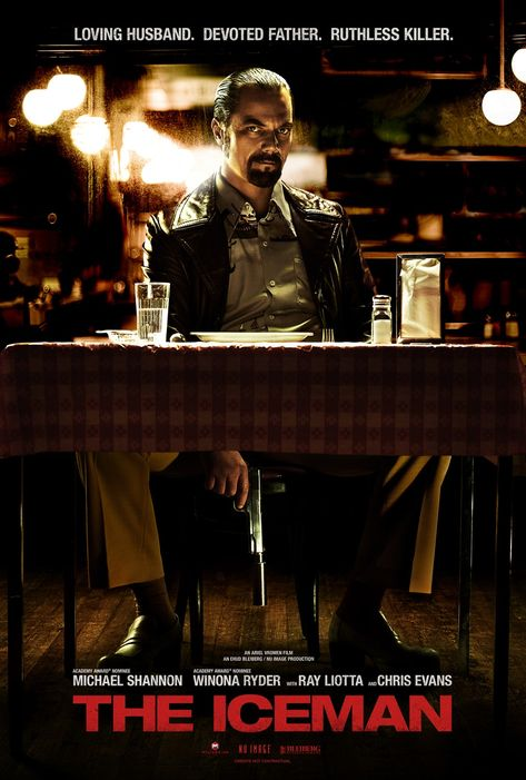 The Iceman - The true story of Richard Kuklinski, the notorious contract killer and family man. When finally arrested in 1986, neither his wife nor daughters have any clue about his real profession.