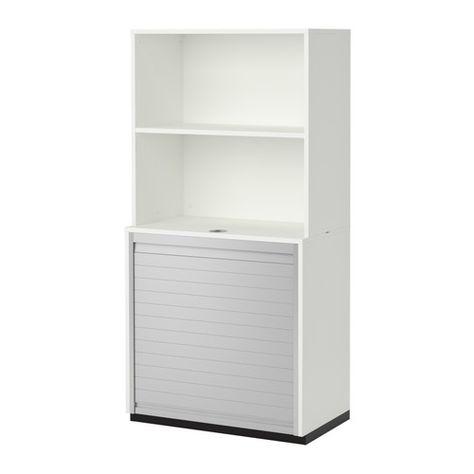 Galant Rangement A Rideau Avec Etagere Blanc Ikea Meuble Bureau Armoire Bureau Et Etagere Blanche