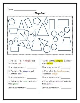 Use This Worksheet To Help Your Students Recognize Different Plane Figures Sort And Graph Their Findings Plane Figures Graphing Shape Sort Geometry plane and simple worksheets