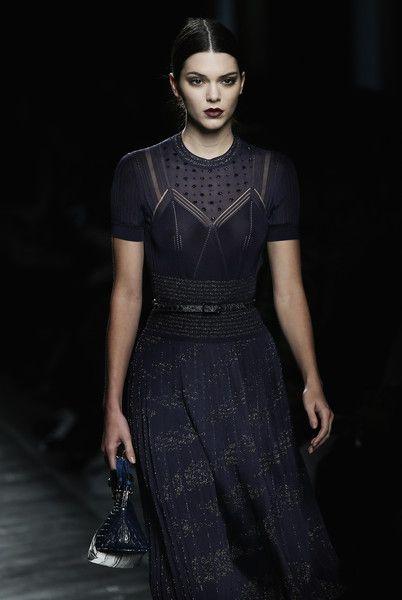 Kendall Jenner walks in Milan Fashion Week Fall/Winter 2016/17.