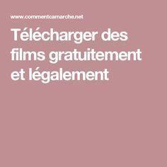 Télécharger des films gratuitement et légalement | film, code.