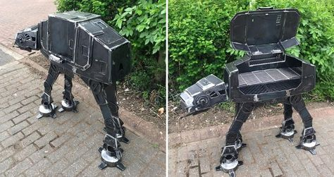 Star Warsfans don't just grill their food with an ordinary BBQ grill. So, if you are a fan you should get yourself this At-At BBQ Grill.
