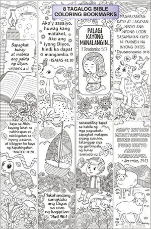8 Tagalog Bible Coloring Bookmarks Coloring Bookmarks Bible Coloring Bookmarks