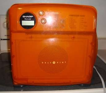 The Sharp Half Pint Microwave In Orange Amber For Retro Kitchen This Was A Great It Echoed Lines Of Old Fridges I Don