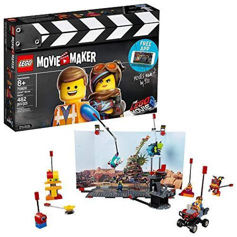 LEGO THE LEGO MOVIE 2 Movie Maker 70820 Building Kit For Kids, Build and Play Creative Director Roleplay Toy with Free Movie Maker App (482 Pieces) (Discontinued by Manufacturer) - Multicolor