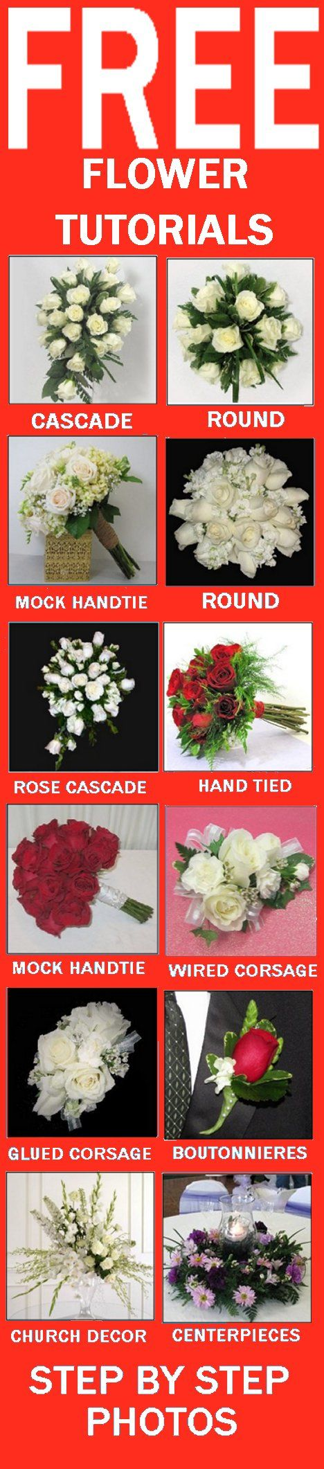 Winter wedding bouquets free flower tutorials learn how to make winter wedding bouquets free flower tutorials learn how to make bridal bouquets wedding corsages groom boutonniere church decorations and rec izmirmasajfo Choice Image