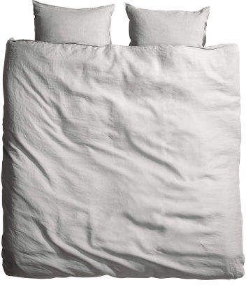 Washed Linen Duvet Cover Set Light Gray Home All H M Us Washed Linen Duvet Cover Gray Duvet Cover Duvet Cover Sets