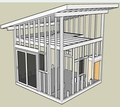 12x20 modern shed plans office shed cool shit Pinterest