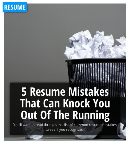 5 Resume   CV Mistakes That Can Knock You Out Of The Running 1 - common resume mistakes