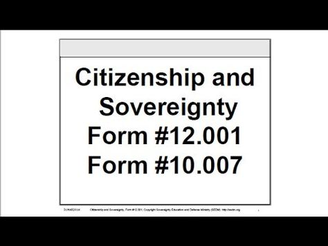 Citizenship And Sovereignty, Form #12001 Citizenship and - citizenship form
