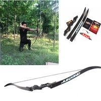 """48/"""" Recurve Bow W// 20lbs 28/"""" Draw For Women Children Archery Camouflage Outdoor"""
