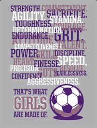 Soccer Girl Strong Muscular Athletic Phrase by KatiesVinylDecor