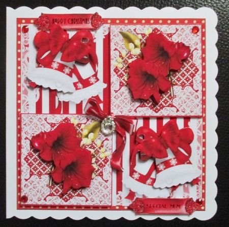 Beautiful Amaryllis Flutters Card Front Kit by Davina ...