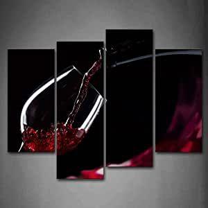 Rotwein Im Glas Wandkunst Druck Auf Leinwand Essen Kunstwerk Bilder Fur Zuhause Buro Modern In 2020 Moderne Dekoration Wandkunst Dekoration Gunstig