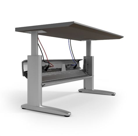 Ki Genesis Electric Height Adjustable Desk With Powered Wireway
