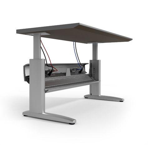 Ki Genesis Electric Height Adjustable Desk With Powered Wireway