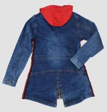 Plaszczyk Kurtka Jeansowa Dziewczeca 152 158 14 7525431631 Oficjalne Archiwum Allegro Denim Jacket Jackets Fashion