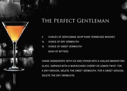 Gentleman Jack Cocktail Shaker With Recipes Glass With Rubber Top