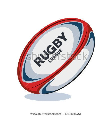 Rugby Ball Red White And Blue Design Sport De Rugby Rugby Cartes