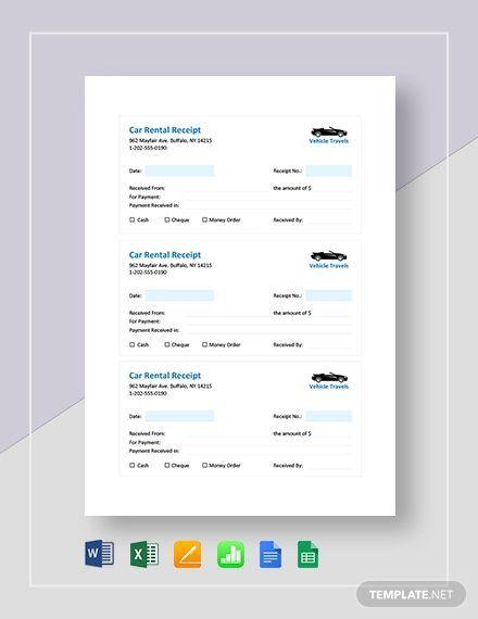 10 Car Rental Receipt Template Download