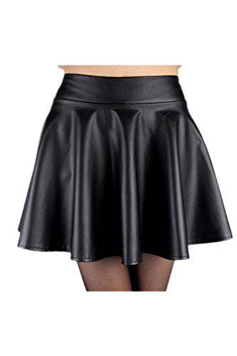 6470b0b92 Suvotimo La Mujer Casual PU De Cuero De Imitacion Clubwear Parte ...