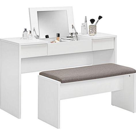 Schminktisch In Weiss Weiss Design Holzwerkstoff 125 76 42cm