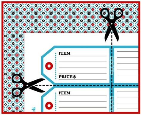 image about Garage Sale Price Tags Free Printable referred to as Pinterest