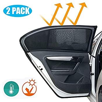 Mesh,Car Window Covers Sun Protector Visor Block UV Rays Keep Your Vehicle Cool,Protection for Baby Kids Pets Fits Most Cars//SUVs 2 Pack Universal Car Rear Side Window Sunshade,Side Window Sun shade