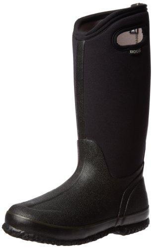 Bogs Women S Classic High Handle Waterproof Insulated Boot Black 6 M Us Winter Boots Women Womens Bogs Rain Boots