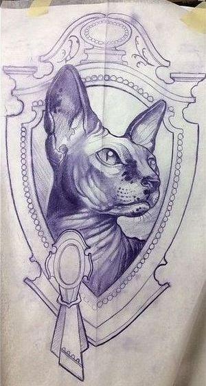 Cat Tattoo Design Cattattoo With Images Cat Tattoo Designs Cat Tattoo Art