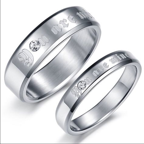Bishilin 6MM Stainless Steel Silver and Gold Tone Biocolor Engagement Band Wedding Rings