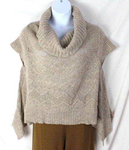 Anthropologie Moth L Size Beige Cowl Neck Sweater Lightweight ...