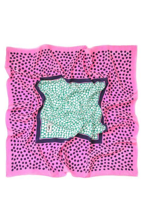 Vintage YSL Polka Dot Square Scarf from Sweet & Spark