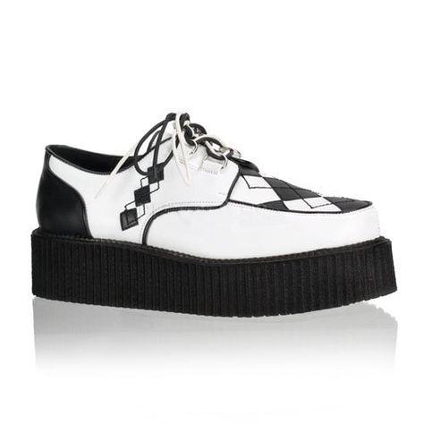 Shoes: 2 Inch Mens Platform Shoes Argyle Veggie Creeper Shoe