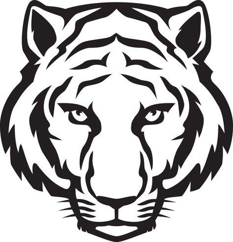 White Tiger Face Printables Google Search Dessin Tigre