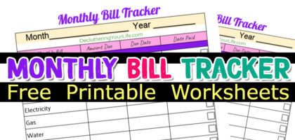 Free Bill Organizer Printables And My Simple Bill Organization System Decluttering Your Life Declutter Declutter Your Home Organize Declutter