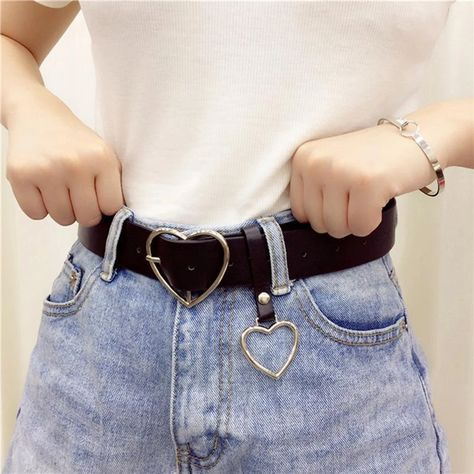 Quality JIFANPAUL New sweetheart buckle with adjustable ladies luxury brand cute Heart-shaped thin belt high quality punk fashion belts with free worldwide shipping on AliExpress Mobile Fashion Belts, Punk Fashion, Womens Fashion, Moda Punk, Buckle Jeans, Metal Belt, Harajuku Fashion, Belts For Women, Ladies Belts