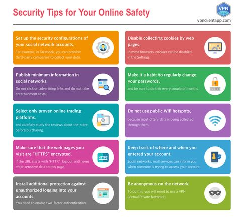 Infographic - Security tips for your online safety
