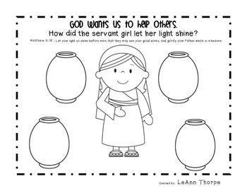 Naaman And The Servant Girl Bible Activity Bible Activities