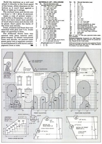 Doll House Plans Ana White | Three | dollhouses  | Doll house plans