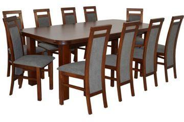 Duzy Zestaw Do Salonu Drewniany Stol I 10 Krzesel Dining Chairs Furniture Home Decor