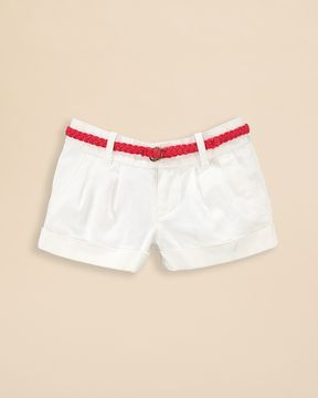 Ralph Lauren Childrenswear Girls' Belted Chino Shorts - Sizes 2-6X on shopstyle.com