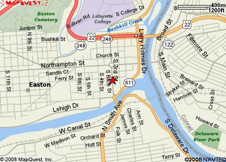 City of Easton PA Map detailed map this map is informational