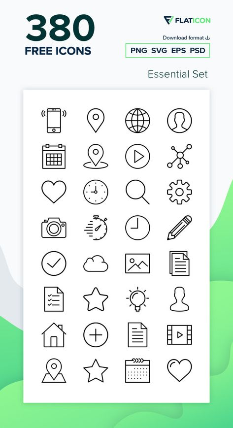 380 free vector icons of Essential Set designed by Smashicons